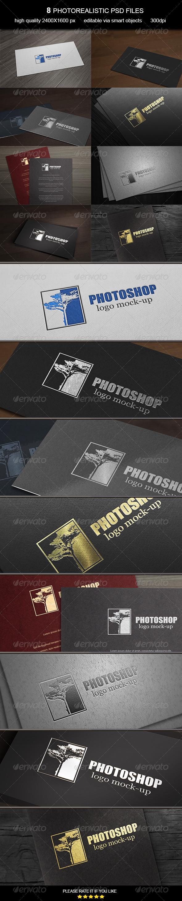 Card Logo Mock-Up - Logo Product Mock-Ups