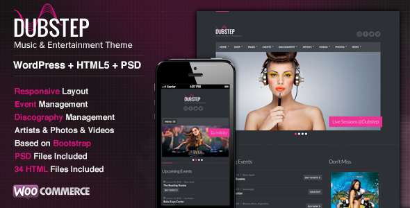 Dubstep – Premium Music WordPress Theme