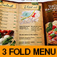 Italian Restaurant Food Menu Template Tri-Fold - GraphicRiver Item for Sale
