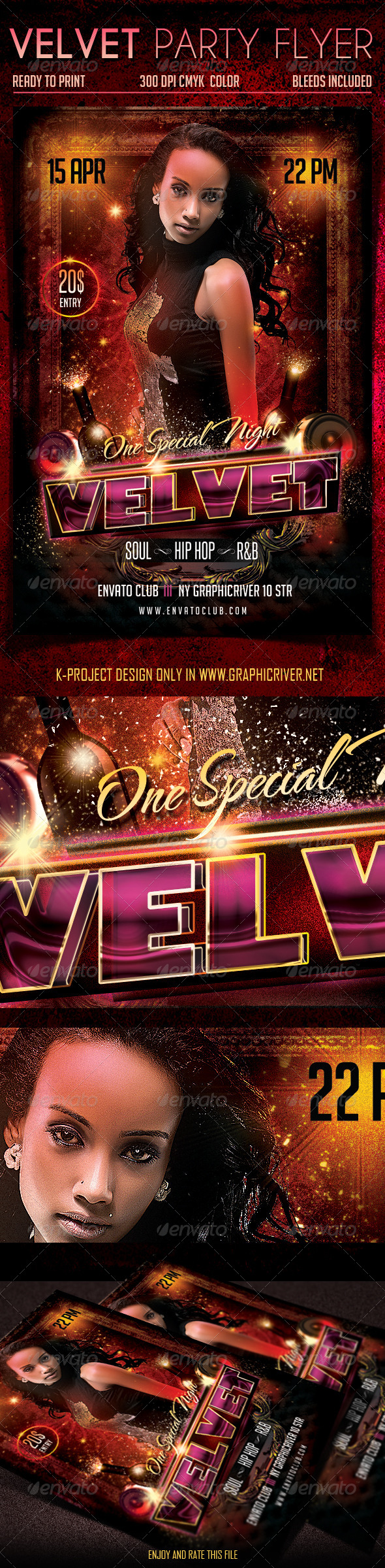 Velvet Party Flyer - Clubs & Parties Events