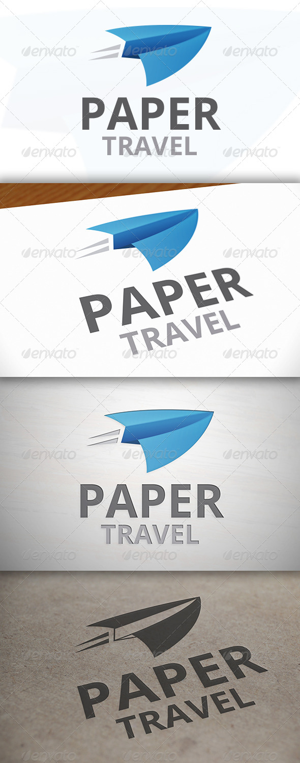 Paper Travel Logo - Objects Logo Templates