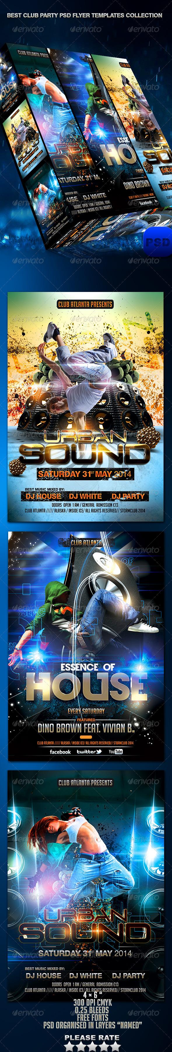 Club Party PSD Flyer Templates Bundle - Events Flyers