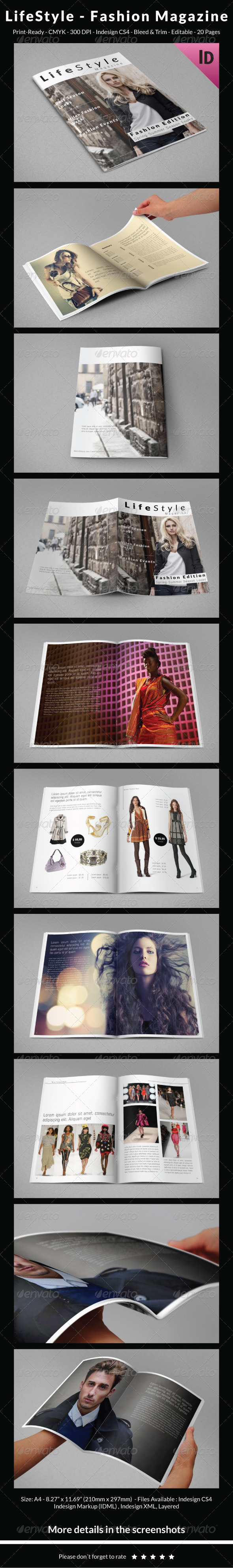 LifeStyle – Fashion Magazine - Catalogs Brochures