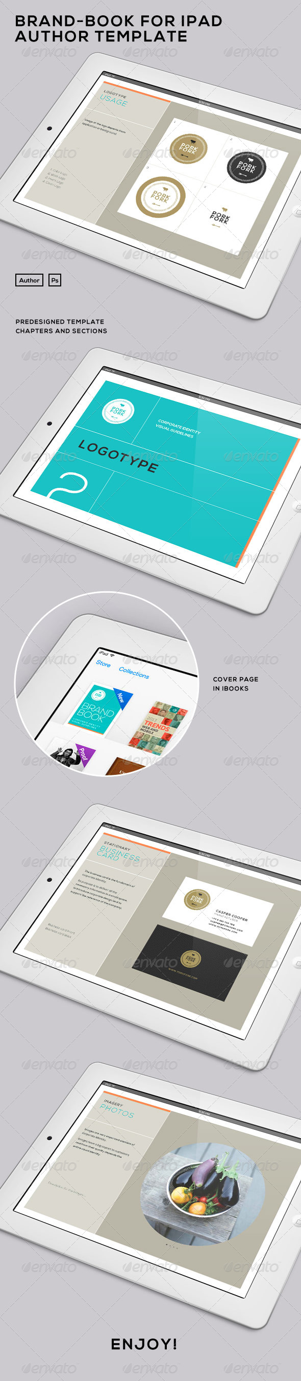 Brand Book for iPad - iBooks Author Template - Digital Books ePublishing