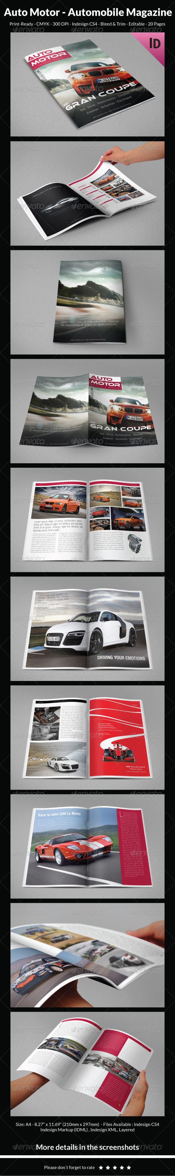 Auto Motor - Automobile Magazine - Magazines Print Templates