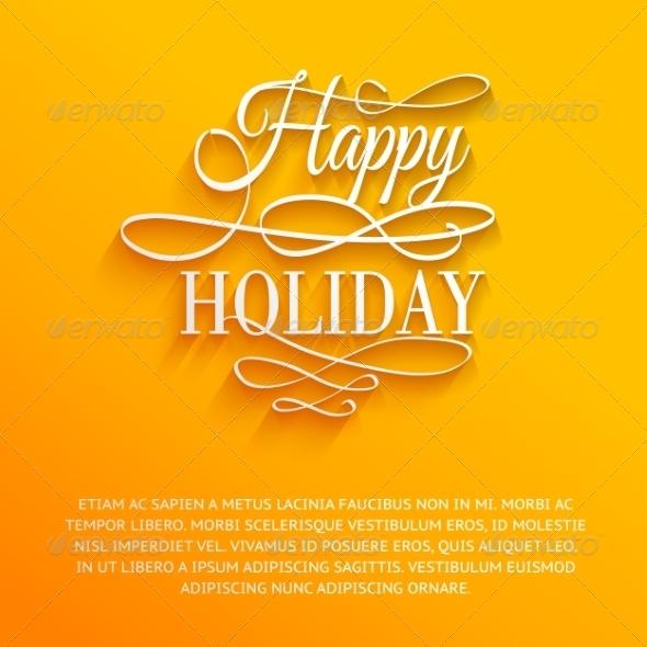 Happy Holiday  - Miscellaneous Vectors
