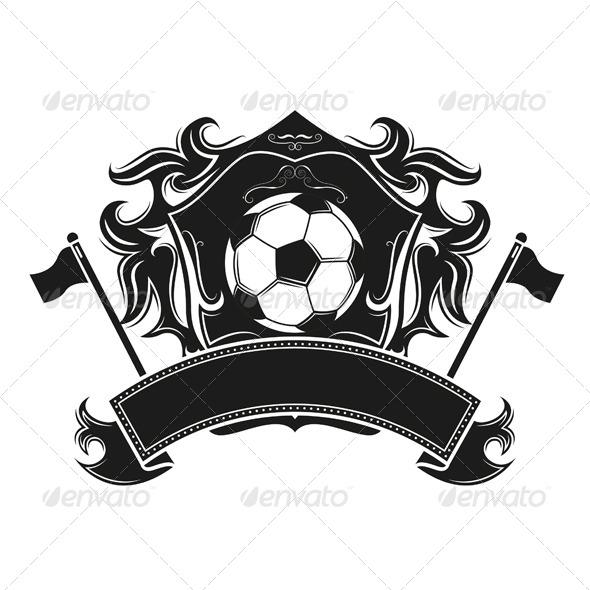 Soccer Emblem Vintage Design - Sports/Activity Conceptual