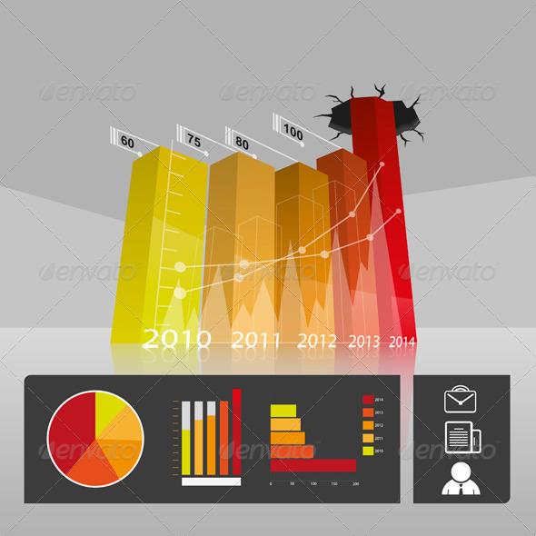 Business Commerce Profit Graph - Infographics