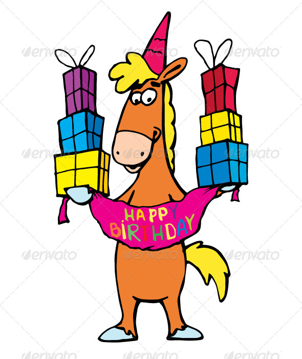 Birthday Horse - Animals Characters