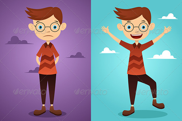 Before and After Attitude - Conceptual Vectors