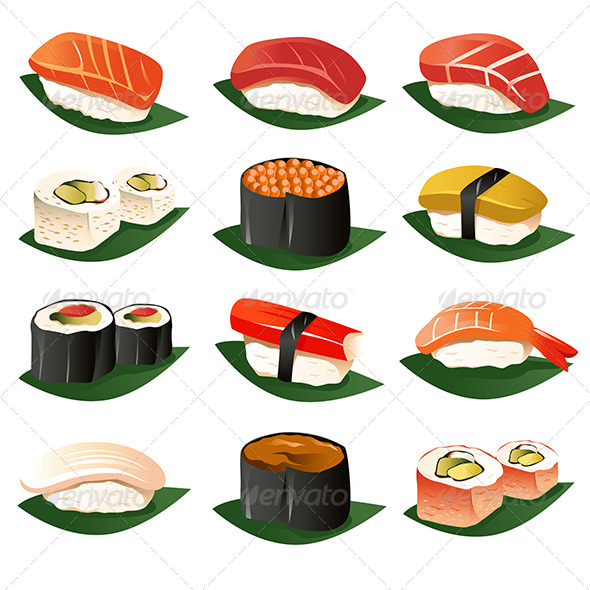 Sushi Icons - Food Objects