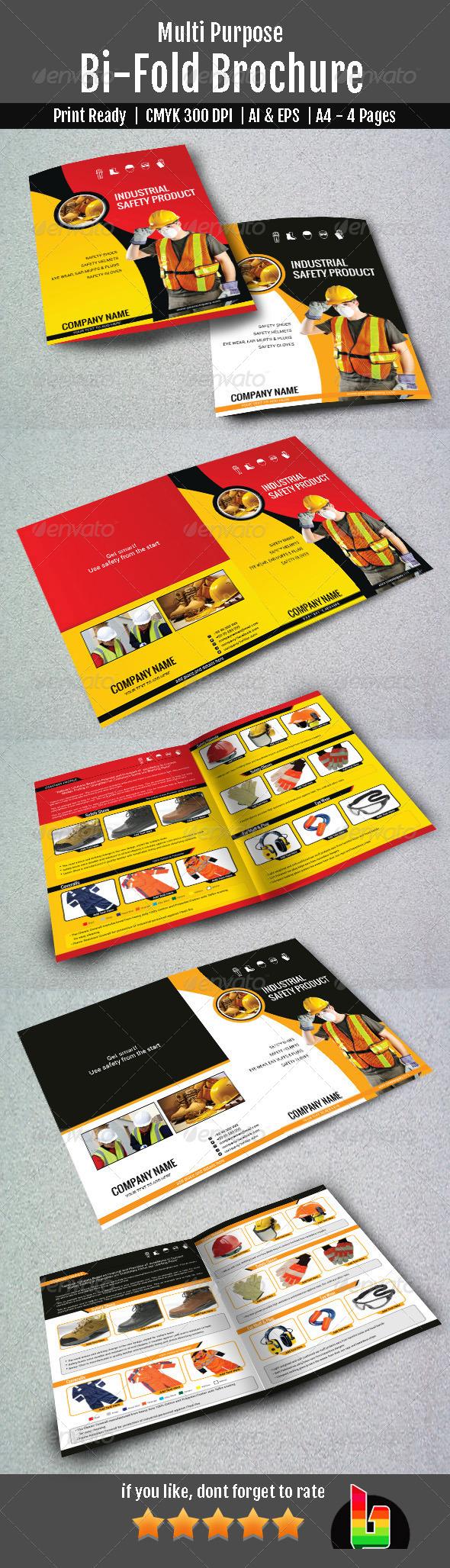 Multipurpose Bifold Brochure - Brochures Print Templates