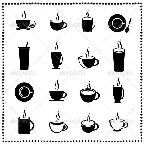 Set of Coffee Cup and Tea Cup - Food Objects