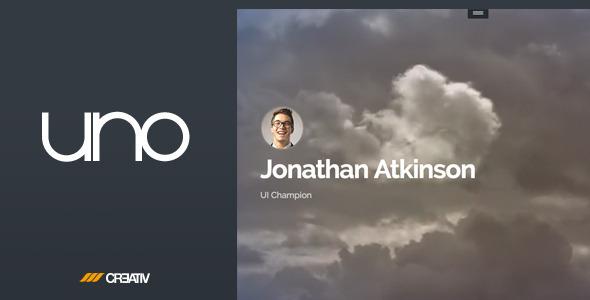 Uno - Personal Portfolio & Resume Page - Personal Site Templates