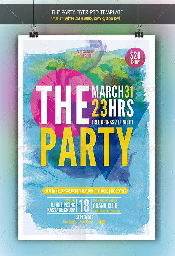 The Party | Flyer Template - Clubs & Parties Events