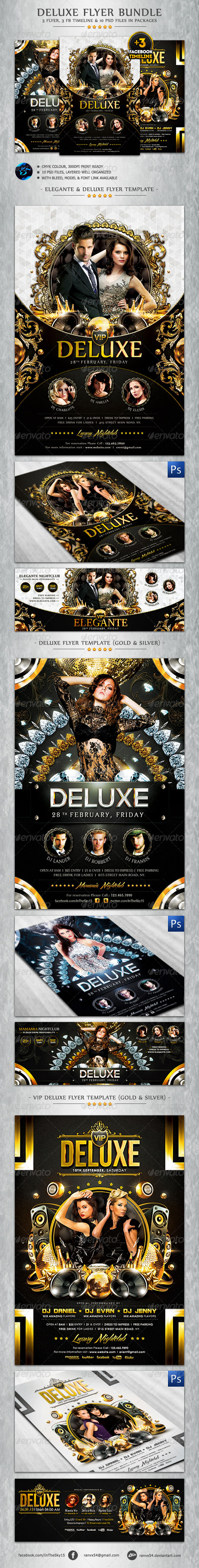 Deluxe Flyer Bundle + FB Timeline Cover - Events Flyers
