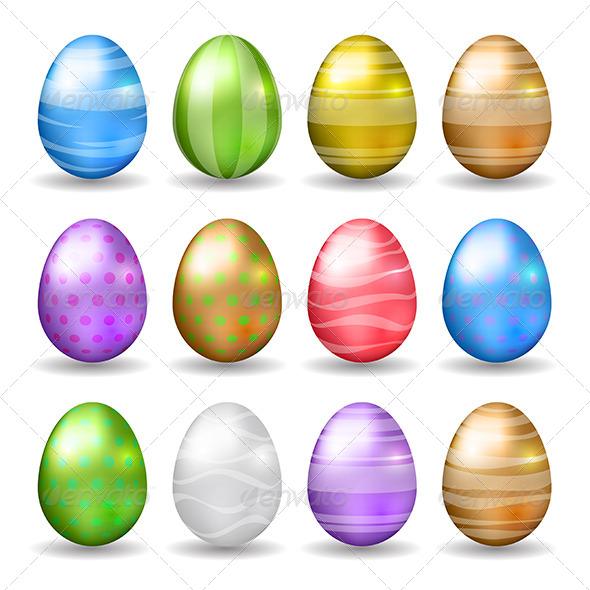 Vector Easter Eggs - Seasons/Holidays Conceptual