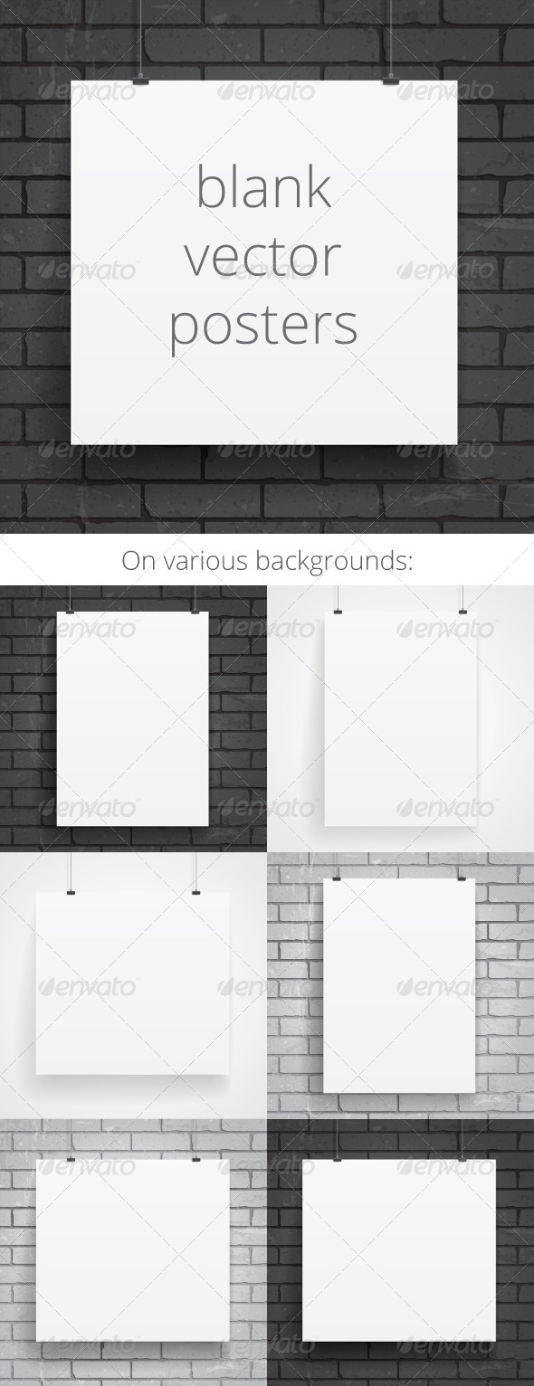 Blank Paper Posters - Backgrounds Business