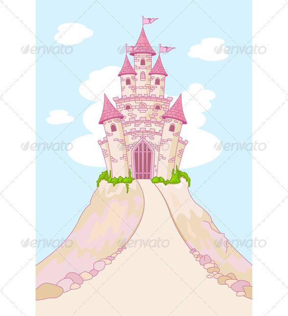 Magic Castle Invitation Card - Buildings Objects