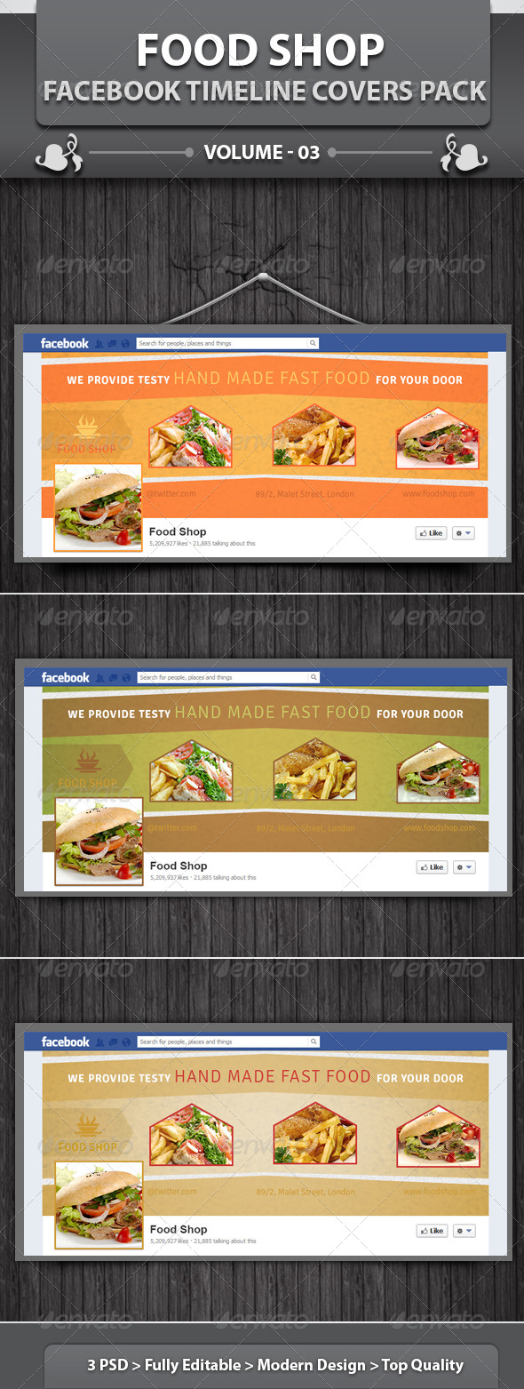 Restaurant Business FB Timeline | Volume 11 - Facebook Timeline Covers Social Media