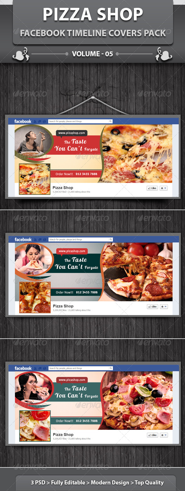 Restaurant Business FB Timeline | Volume 9 - Facebook Timeline Covers Social Media