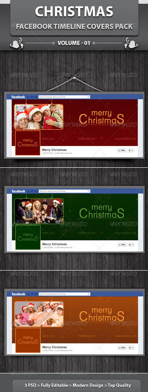 Christmas FB Timeline | Volume 1 - Facebook Timeline Covers Social Media