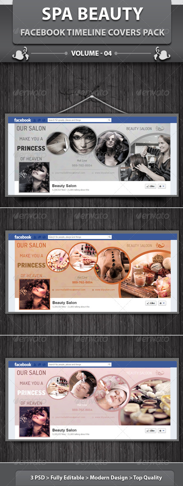 Spa & Beauty Saloon FB Timeline | Volume 4 - Facebook Timeline Covers Social Media