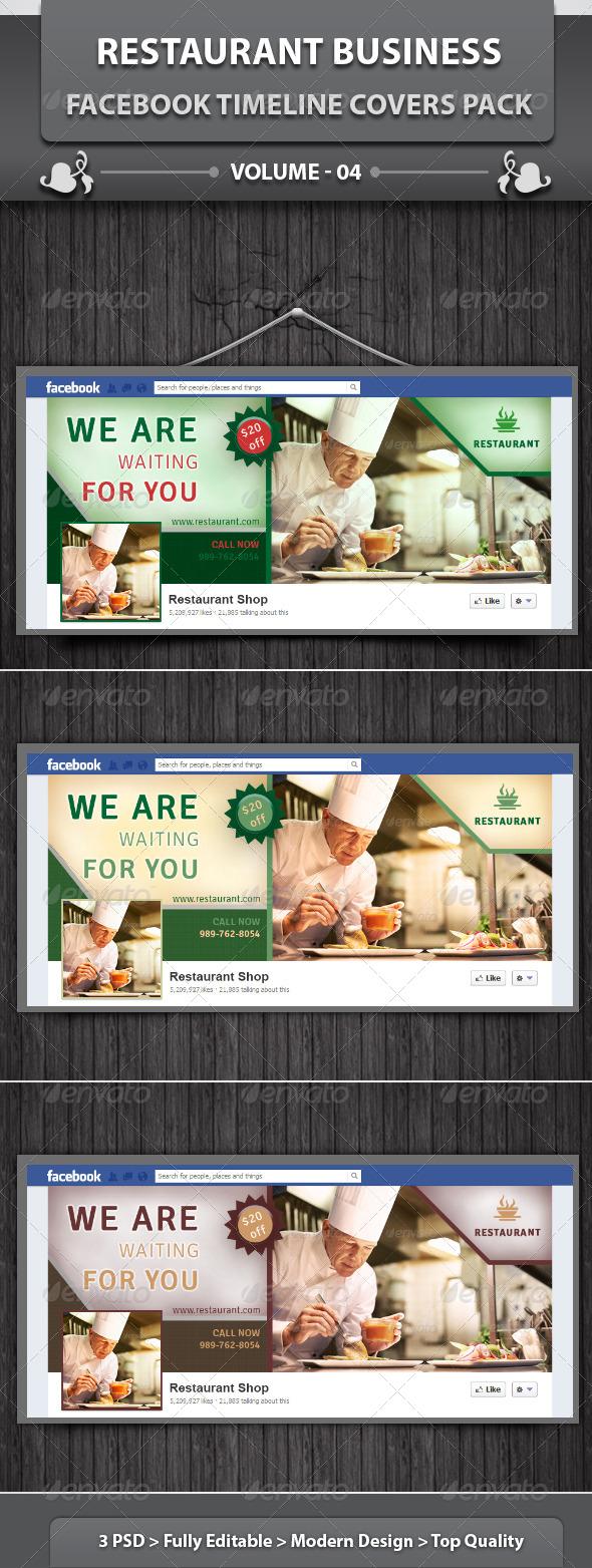 Restaurant Business FB Timeline | Volume 7 - Facebook Timeline Covers Social Media