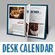 September - Realistic Desk Calendar Mock Up - GraphicRiver Item for Sale