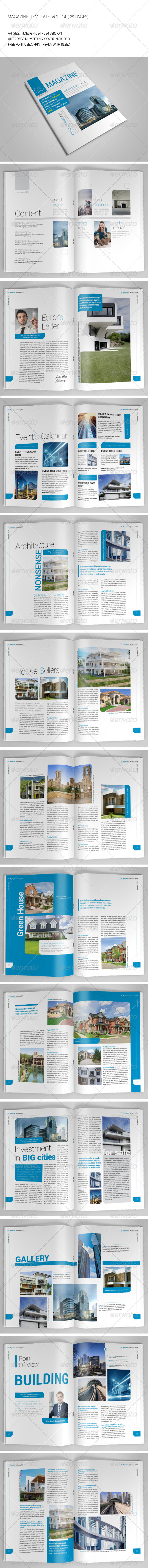 25 Pages Magazine Template Vol14 - Magazines Print Templates