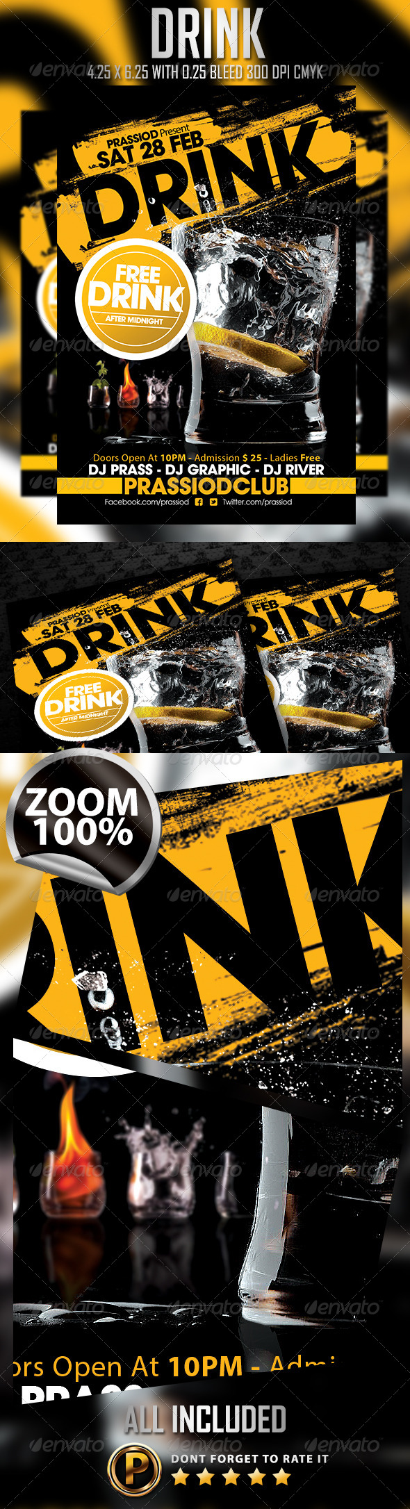 Drink Flyer Template - Clubs & Parties Events