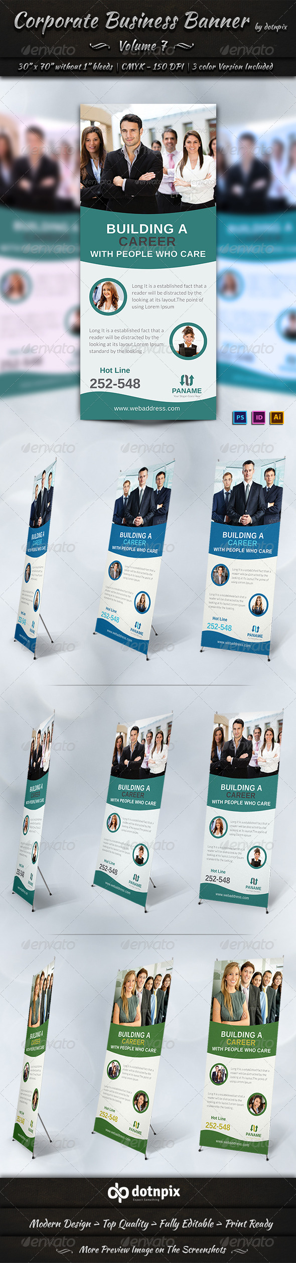 Corporate Business Banner | Volume 7 - Signage Print Templates