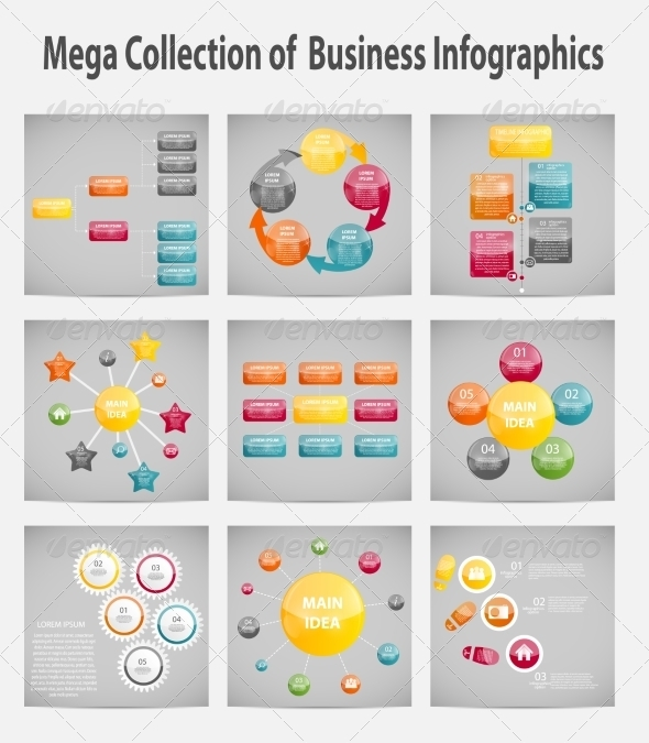 Mega Collection Infographic Template Business - Web Technology