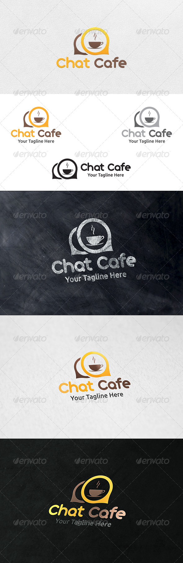 Chat Cafe - Logo Template - Symbols Logo Templates