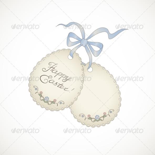 Happy Easter Card - Decorative Symbols Decorative