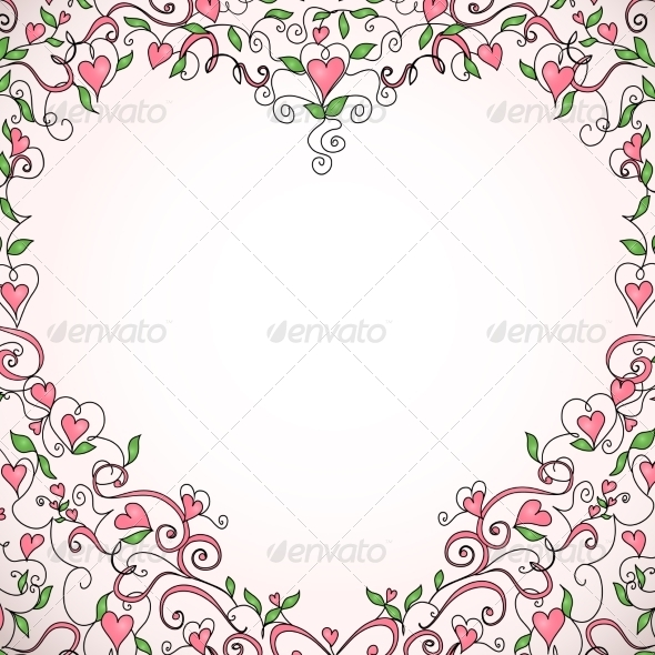 Heart-Shaped Frame - Patterns Decorative