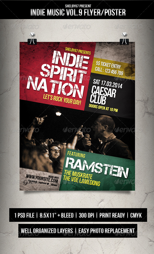 Indie Music Flyer / Poster Vol.9 - Events Flyers