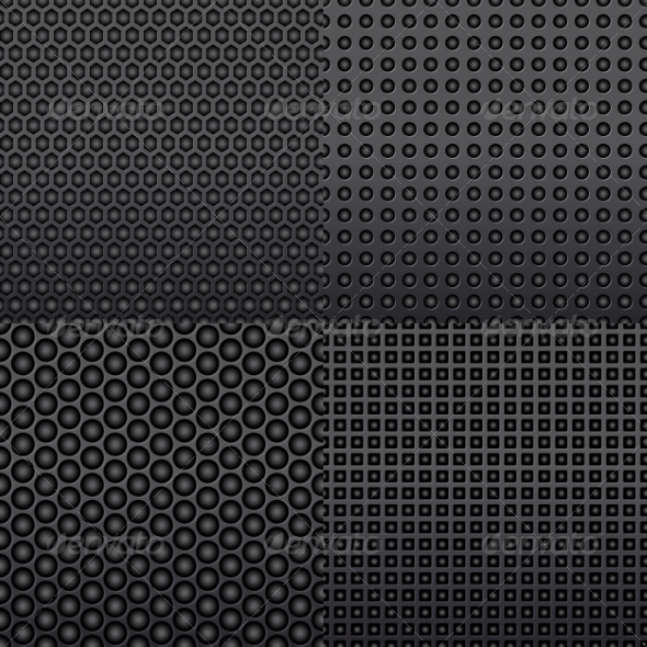 Four Repeat Seamless Carbon Patterns - Patterns Decorative