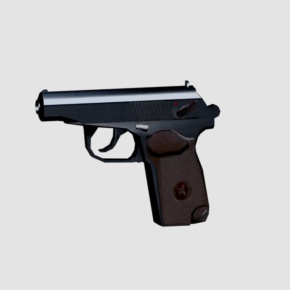 Makarov Pistol - Low Poly - 3DOcean Item for Sale