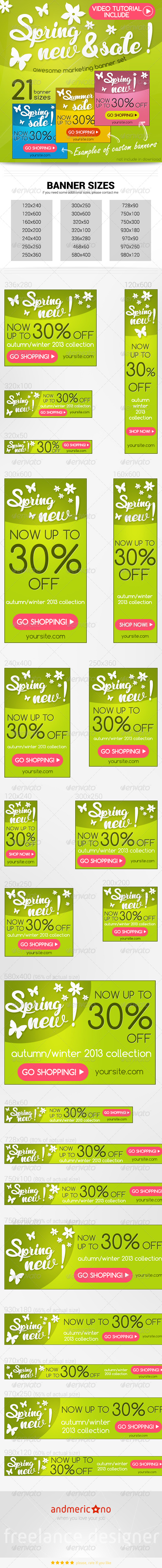 Seasonal Sale Banners - Banners & Ads Web Elements