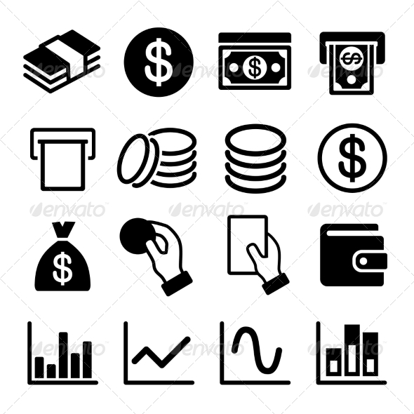 Money and Business Icon Set - Business Icons