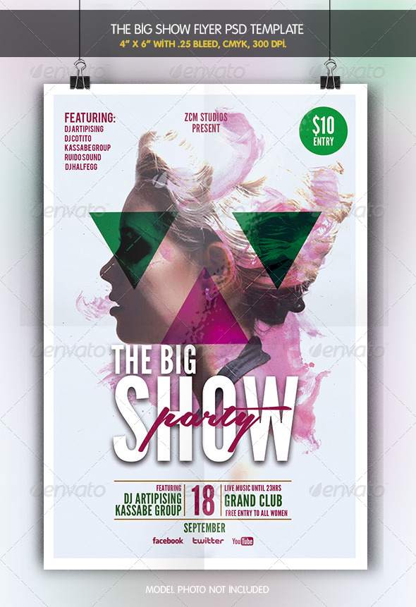The Big Show   Party Flyer - Clubs & Parties Events