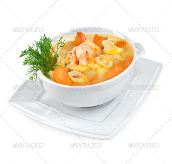 Soup from seafood - Stock Photo - Images