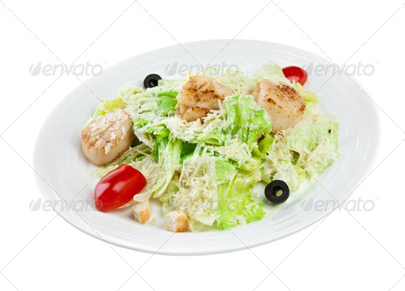 salad from vegetables and meat - Stock Photo - Images