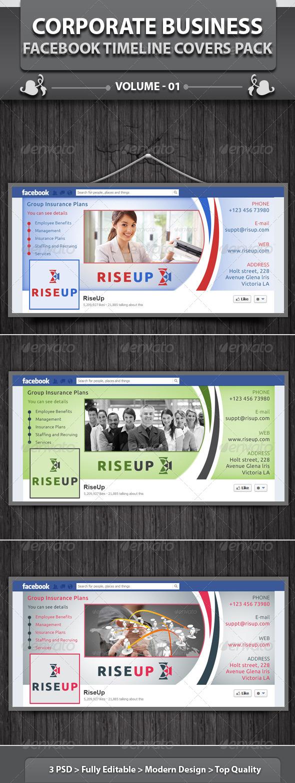 Corporate Business FB Timeline | Volume 1 - Facebook Timeline Covers Social Media
