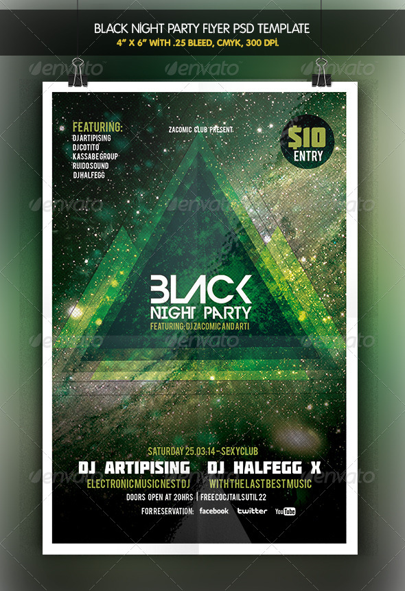 Black Night | Flyer Template - Clubs & Parties Events
