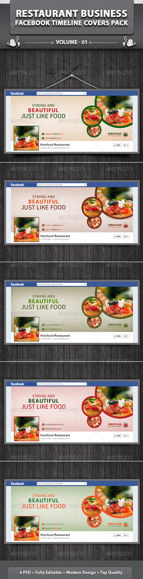 Restaurant Business FB Timeline | Volume 14 - Facebook Timeline Covers Social Media