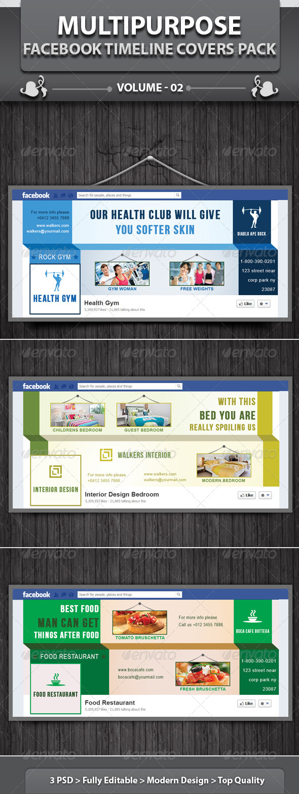 Multipurpose Business FB Timeline | Volume 1 - Facebook Timeline Covers Social Media