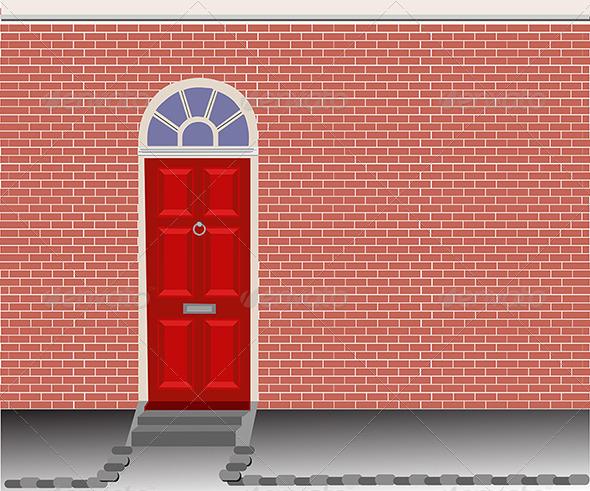 Red Door - Buildings Objects