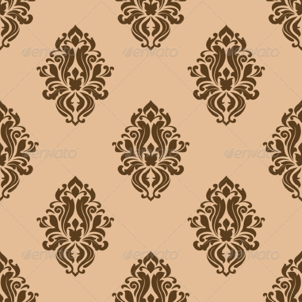 Beige and Brown Seamless Pattern - Patterns Decorative